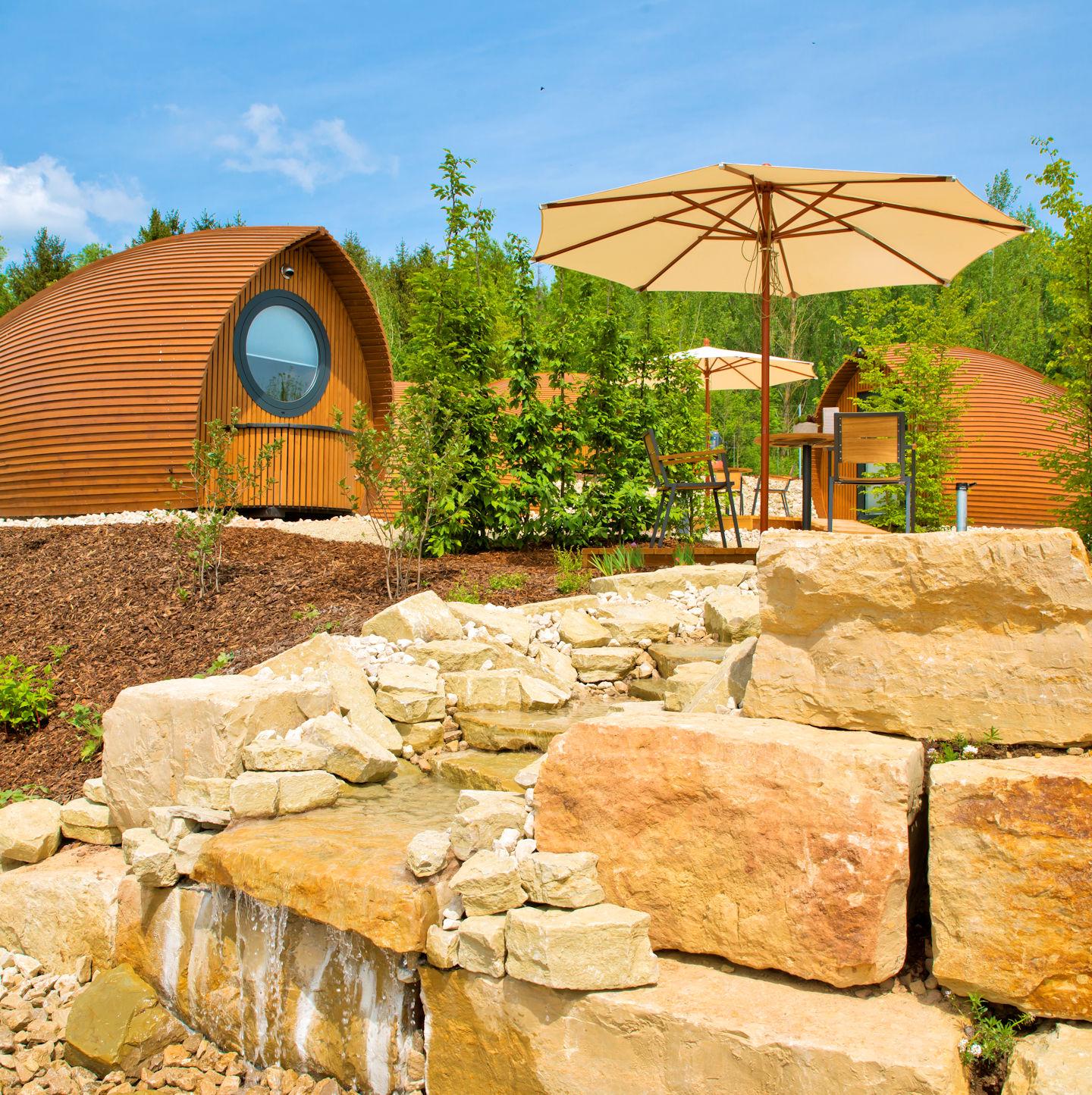Glamping Resort- Genießen Sie den Ausblick auf der Terrasse...
